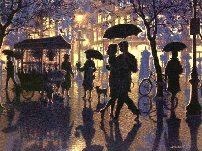 Denis Nolet 1964 - Canadian Figurative painter - Night Tango in Paris (19) (700x524, 326Kb)