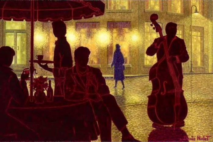 Denis Nolet 1964 - Canadian Figurative painter - Night Tango in Paris (29) (700x466, 46Kb)