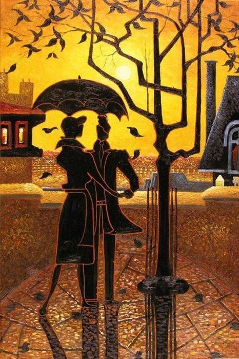 Denis Nolet 1964 - Canadian Figurative painter - Night Tango in Paris (3) (466x700, 83Kb)