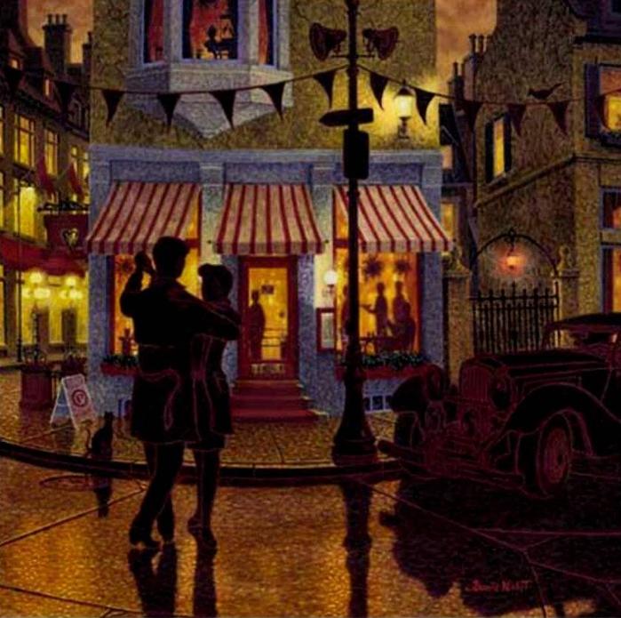 Denis Nolet 1964 - Canadian Figurative painter - Night Tango in Paris (34) (700x695, 341Kb)