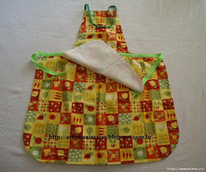 Выкройка фартука для кухни своими руками выкройка