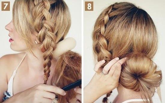 Как сделать свадебную прическу на волосы средней длины - фото мастер-класс