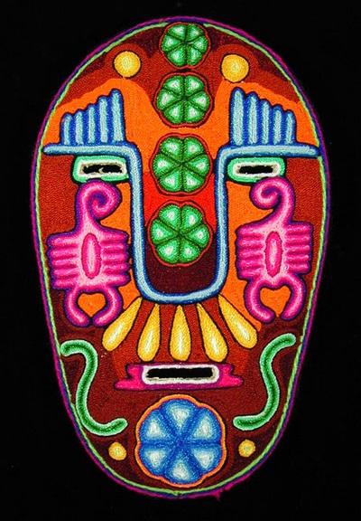 Шаманские мексиканские маски из бисера.
