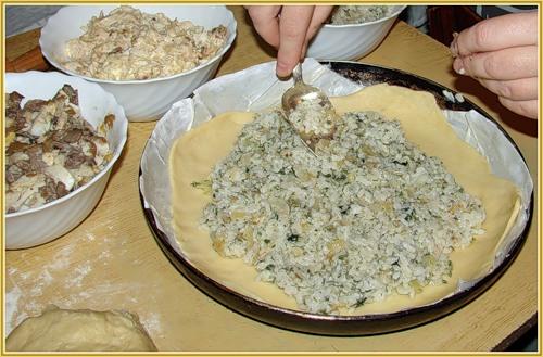 Курник классический из слоеного теста рецепт пошаговый