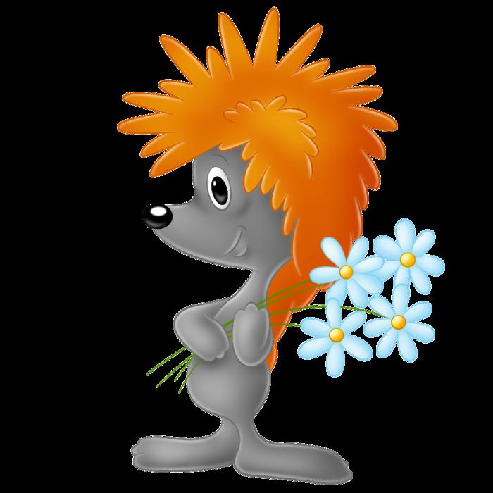 ёжи!к с цветами (700x700, 222Kb)