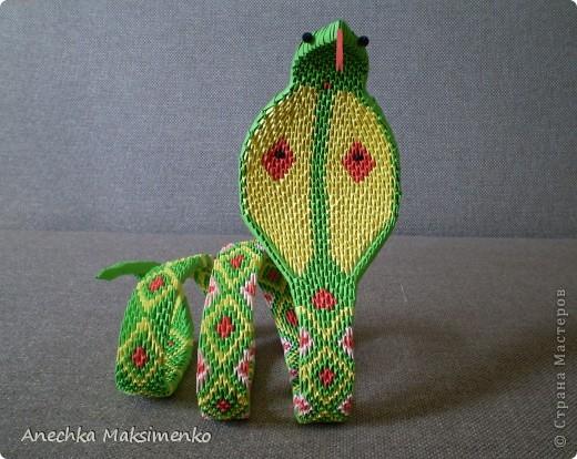 Кобра. Модульное оригами.