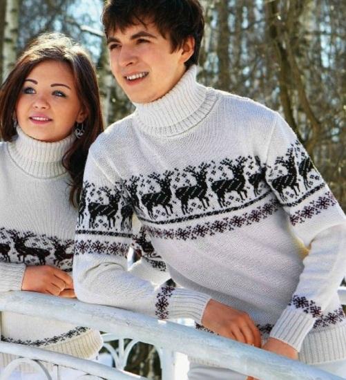 Изящный пуловер спицами