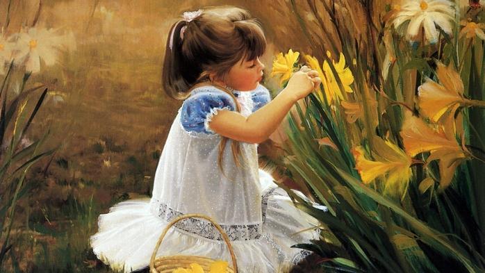 Картинки люди и цветы 4