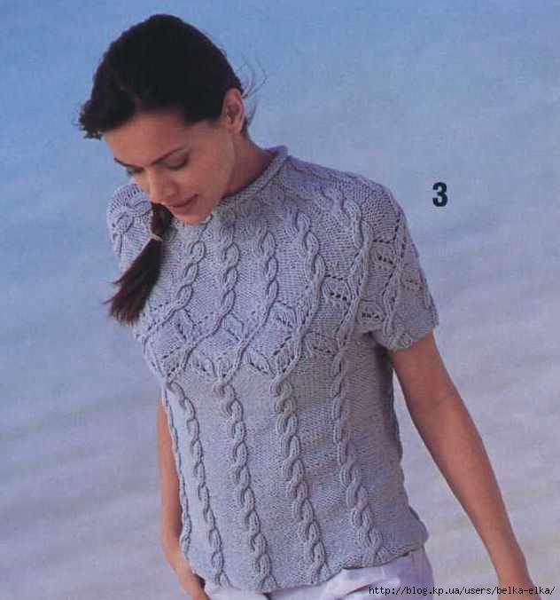 Пуловер с круглой кокеткой .
