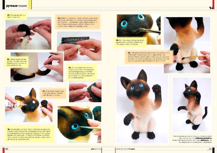 Игрушки мастер класс кошки