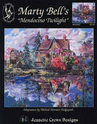"""1. Marty Bell's  """"Mendocino Twilight. схема из 6 частей.  Прочитать целикомВ."""
