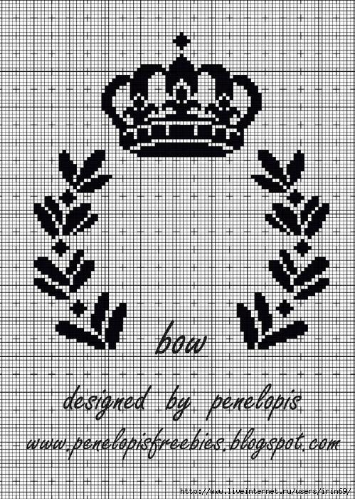 Вышивка крестиком корона