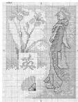 Японка - Японский мотив - схема для вышивки крестиком.