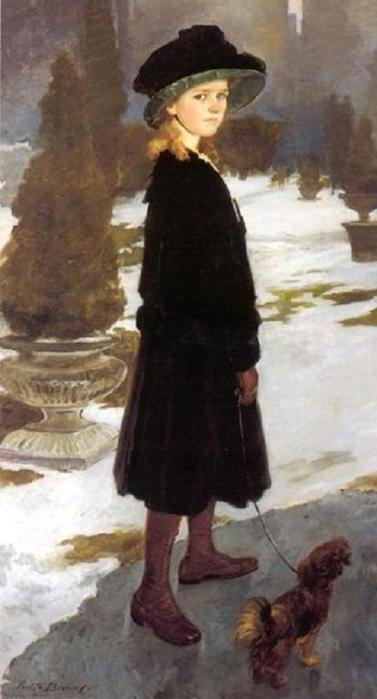 Cecilia Beaux (American Painter, 1855-1942). Portrait of Alice Davison, 1910 (377x700, 33Kb)