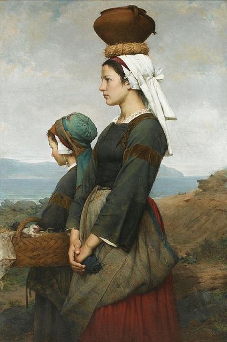 Emile-Auguste HUBLIN Le Chemin du Marché, Finistère 1878 (464x700, 109Kb)