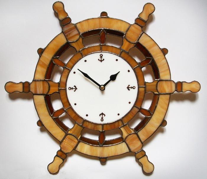 Морские часы настенные своими руками 34