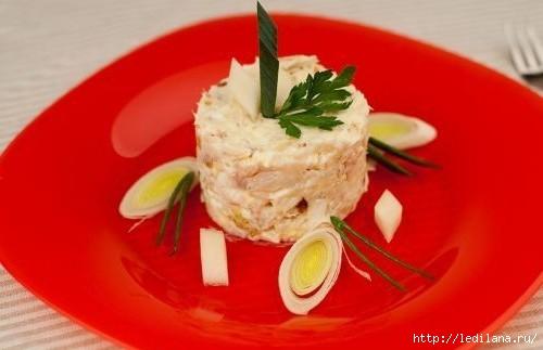 Салат с копченой треской и яйцом (500x323, 68Kb)