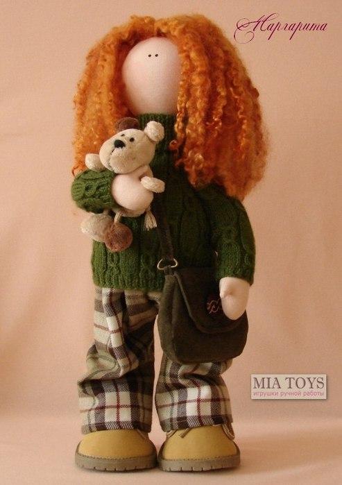 Выкройки для текстильных кукол с каркасом