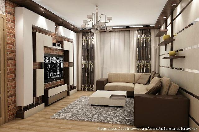 Дизайн зала в квартире своими руками фото