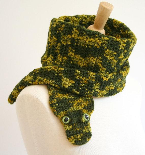Вязаные шарфы в виде животных