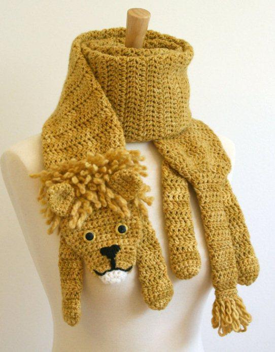 3-шарф в виде льва (542x695,