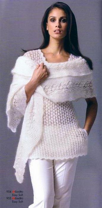 Туника из шарфа