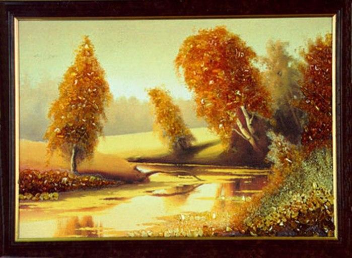 Картины из янтаря сделать