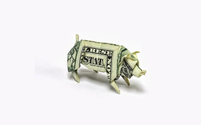 оригами из долларов 1 (700x437, 57Kb)