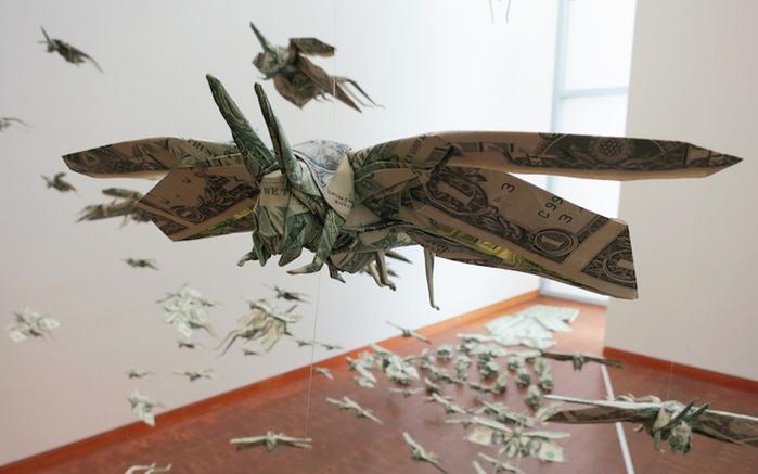 Сифо Мабона оригами из долларов 2 (700x437, 189Kb)