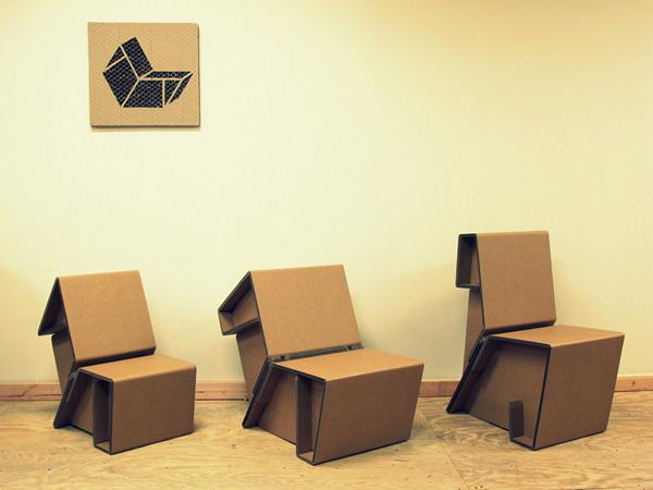 мебель из гофрированного картона Chairigami 1 (600x450, 152Kb)