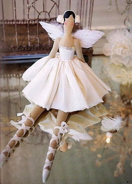Кукла балерина своими руками фото