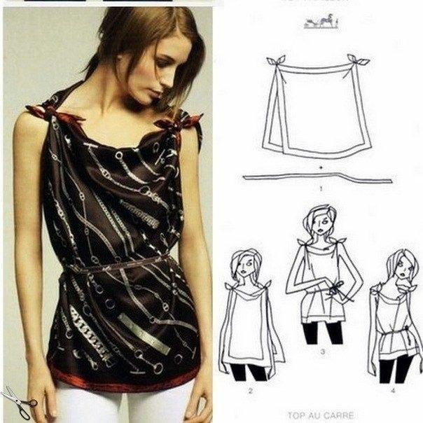 Платья из платков павлопосадских - Поделки