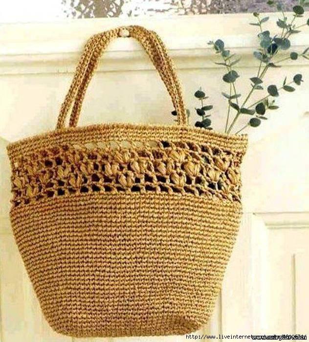 Вязание крючком пляжные сумки 89