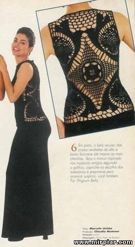 Вязаное платье с ажурной спиной 1 (265x482, 25Kb)