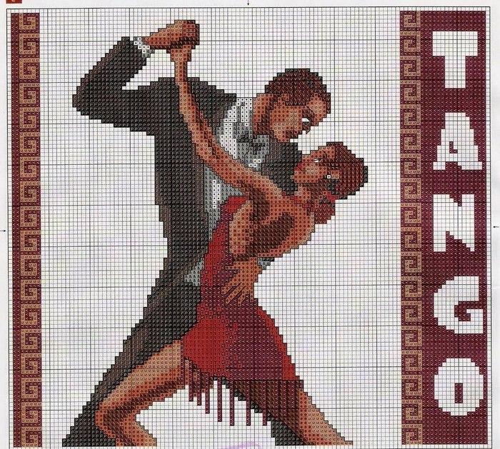 Схема вышивки с танцами 335