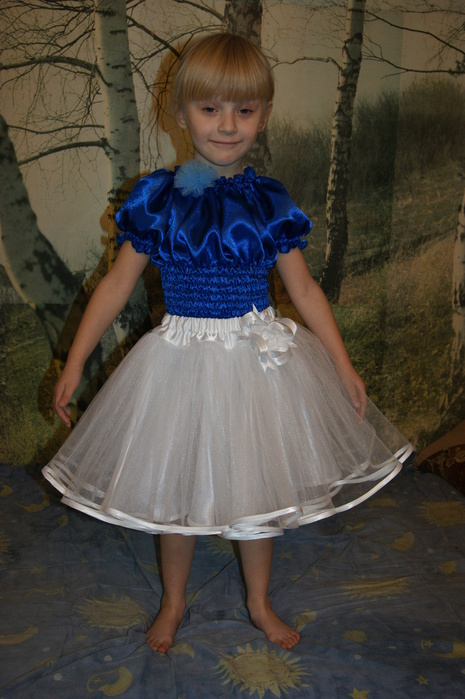 Сшить платье из капрона для девочки 90