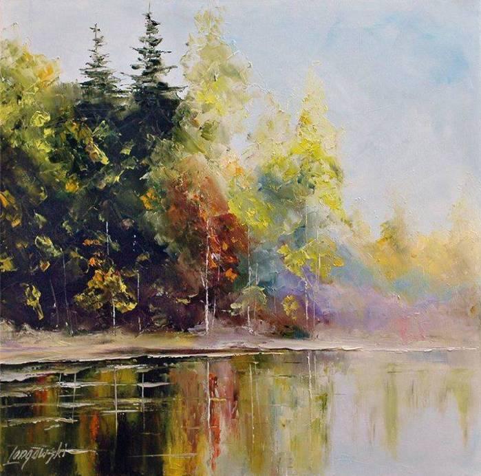 Осень на озере (700x692, 79Kb)