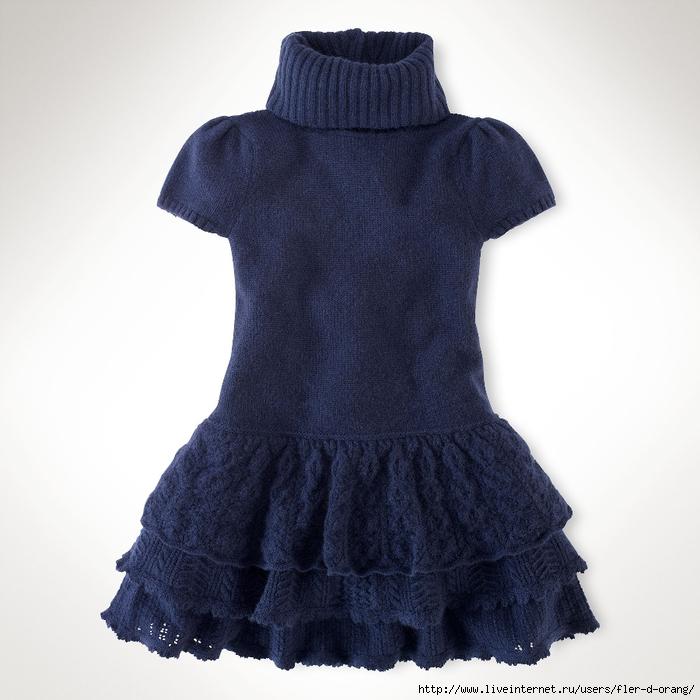 платье детское спицами