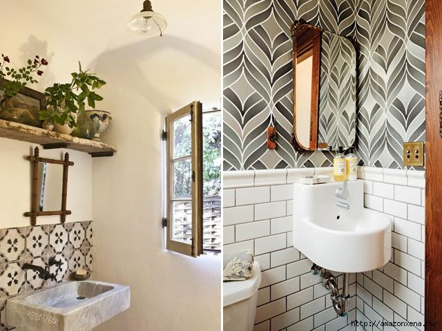 Красивый дизайн интерьера. Ванная комната