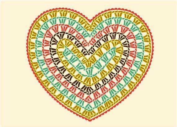 """钩针教程:""""美丽的心"""" - maomao - 我随心动"""