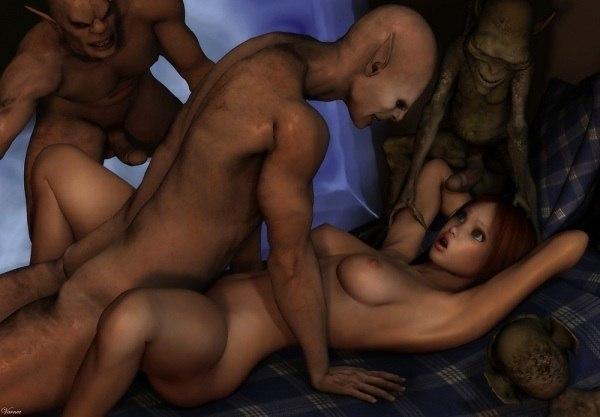 секс рисунки с монстрами