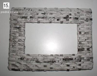 Рамки из газеты для фото своими руками