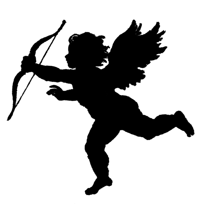 cupid silho Image GraphicsFairy (700x670, 49Kb)