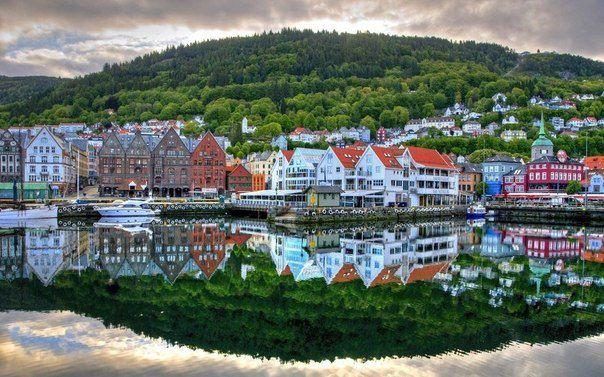 Вид на Берген, Норвегия (604x377, 70Kb)