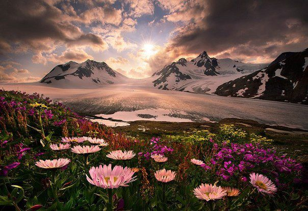 Рассвет в горах, Аляска, США (604x414, 70Kb)