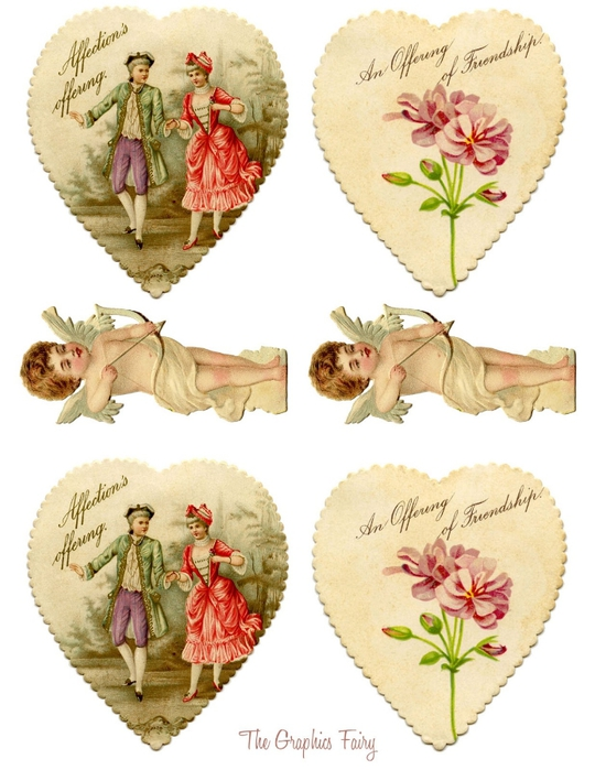 Valentine Garland Printable GraphicsFairysm (540x700, 235Kb)