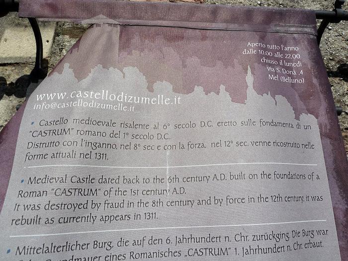 Замок Зумелле - Castello di Zumelle 84081