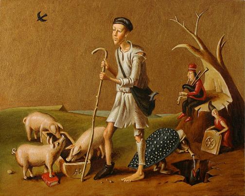 Притча о блудном сыне - Младший сын пасет свиней (504x403, 83Kb)