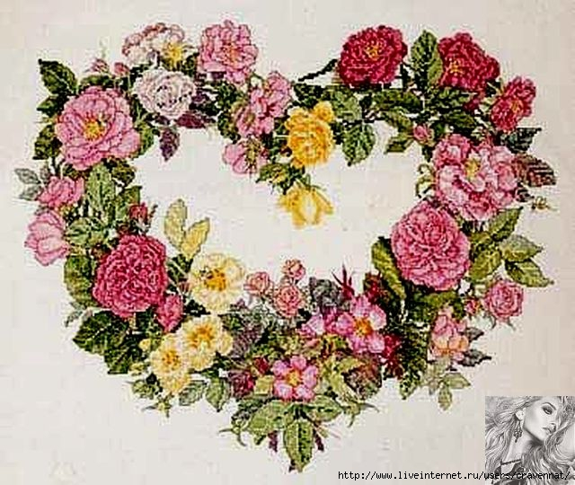 Rose Heart Wreath (640x540, 238Kb)