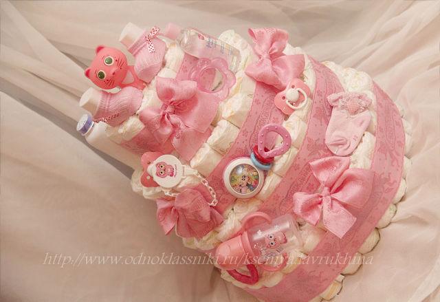 Подарок своими руками из памперсов для новорожденных